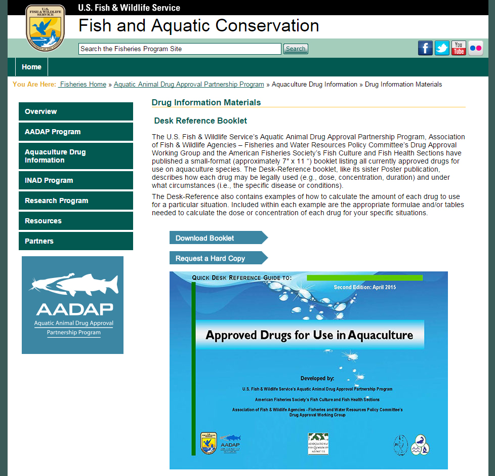 Download the Quick Desk Guide to Approved Drugs in Aquaculture